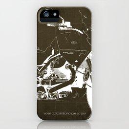 2010 Moto Guzzi Stelvio 1200 4V brown blueprint iPhone Case