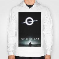 interstellar Hoodies featuring INTERSTELLAR by Tony Vazquez