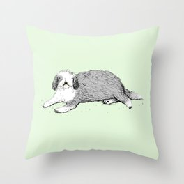 Old English Sheepdog Throw Pillow
