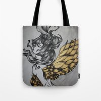religion Tote Bags featuring Birdcage Religion by Leigh Elizabeth