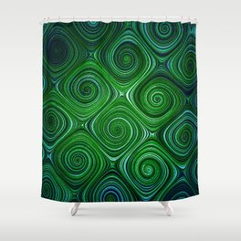 Electric Field Art XLIV Shower Curtain