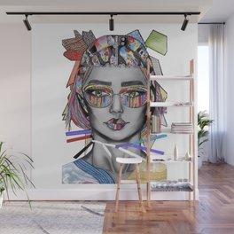 Colorful textile fashion illustration Wall Mural