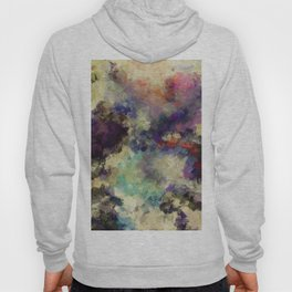 Contemporary Abstract Painting in Purple / Violet Color Hoody