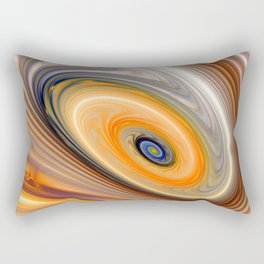 Abstract swirl rainbow background Rectangular Pillow