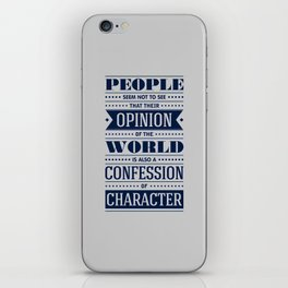 Lab No. 4 People Seem Not to Ralph Waldo Emerson Inspirational Quote iPhone Skin