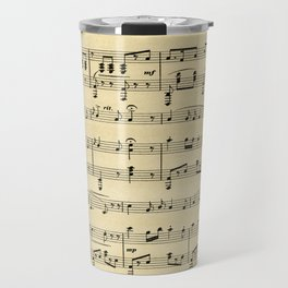 Antique Sheet Music Travel Mug