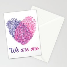 We are one - Valentine love Stationery Cards