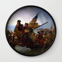 Washington Crossing the Delaware by Emanuel Leutze (1851) Wall Clock