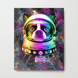 Space Dog Metal Print