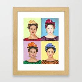 Frida Kahlo Inspired Colorful Pop Art Painting Framed Art Print