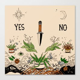 Yes Or No Canvas Print