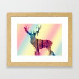 Deer colorful Framed Art Print