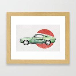 Classic Car - Mustang Framed Art Print
