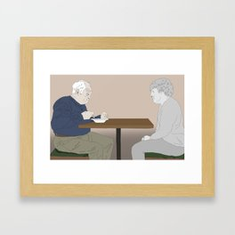 The loss of a soulmate Framed Art Print