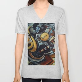Indigo Blues Unisex V-Neck