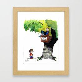 Get Rid Of Slimy Superheroines Framed Art Print
