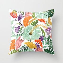 Hello Tropical Throw Pillow