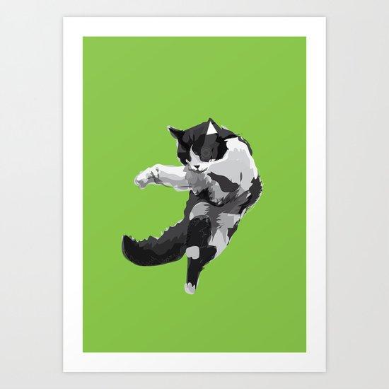 Dancing Cat Art Print