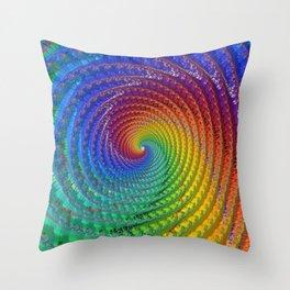Tunnel of Love - Fractal Art  Throw Pillow