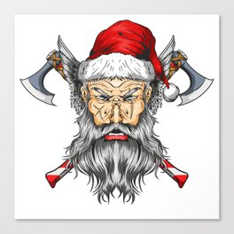 Viking Santa Canvas Print