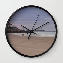 Twin Lights at Good Harbor beach Wall Clock