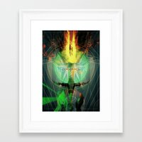 dragon age inquisition Framed Art Prints featuring Inquisition by Lazare Gvimradze