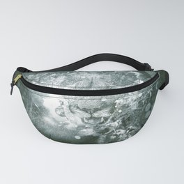 Awesome white  lion Fanny Pack