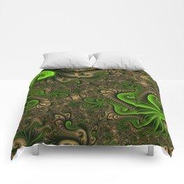 Fantasy World II, Abstract Fractal Art Comforters