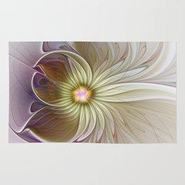Fantasy Flower, Abstract Fractal Art Rug