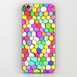 Distorted Colored Hexa Pattern iPhone Skin