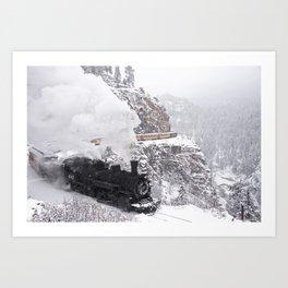 Durango Steam & Snow Art Print