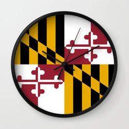 Maryland State Flag, Hi Def image Wall Clock