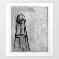 dark tower Art Prints featuring DARK TOWER by Alexander Lazzari
