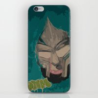 mf doom iPhone & iPod Skins featuring MF DOOM by Rashida Chavis