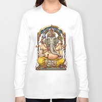 ganesha Long Sleeve T-shirts featuring Ganesha by Pirates of Brooklyn