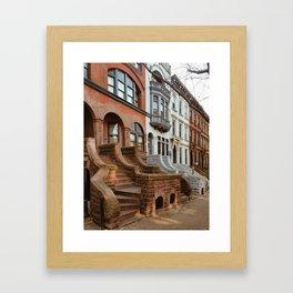 Park Slope Brownstones Framed Art Print