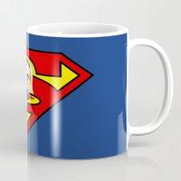 supergirl Mugs featuring Chibi Supergirl by artwaste