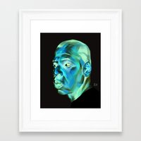 jay z Framed Art Prints featuring JAY-Z by nachodraws