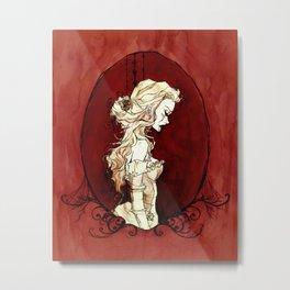Lavinia Cameo Metal Print