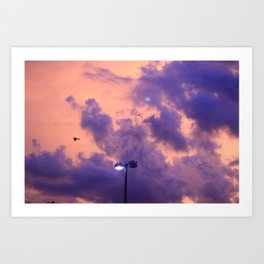 clouds(flying)2 Art Print