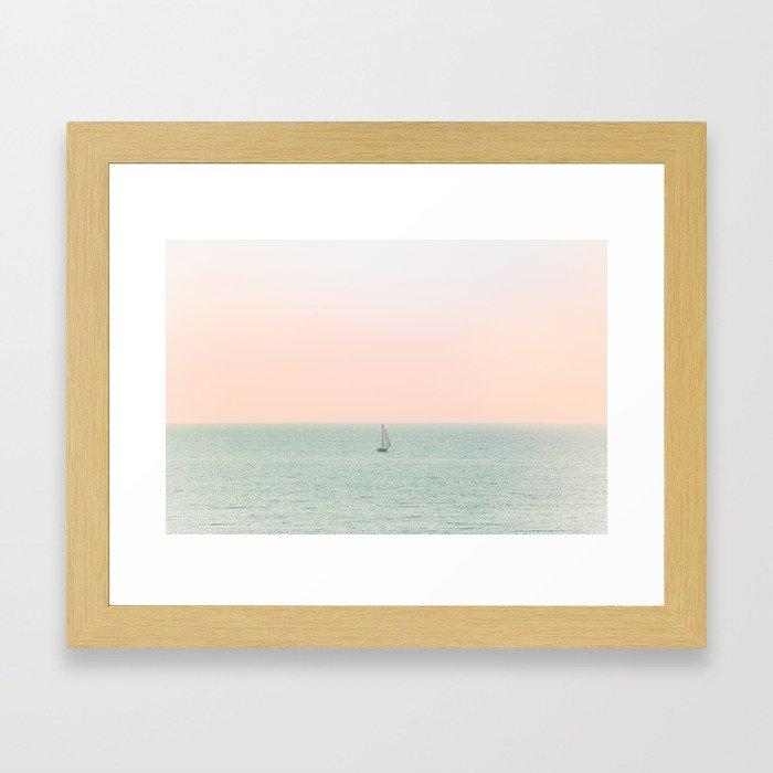 Sky Blush x Ocean Art Framed Art Print