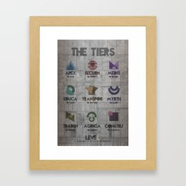 leveL -The Tiers Framed Art Print