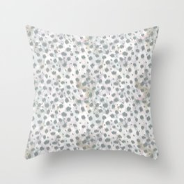Cheetah skin ikat with watercolor texture pattern Throw Pillow