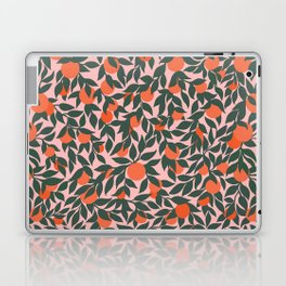Oranges and Leaves Pattern - Pink Laptop & iPad Skin