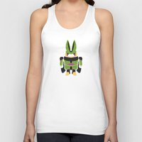 android Tank Tops featuring Perfect Android by thom2maro
