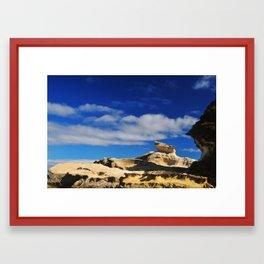 Rock formation Framed Art Print