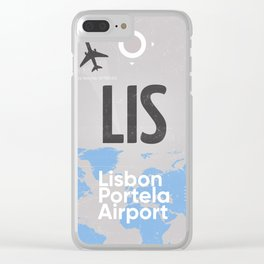 LIS Lisbon airport code Clear iPhone Case