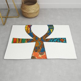Colorful Ankh Rug