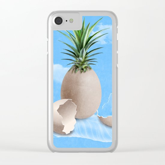 EGGS ON A FEATHER © Clear iPhone Case