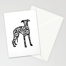 Whippet Mandala Stationery Cards